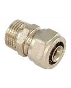 Raccordo diritto in ottone mm 16 x un mezzo per tubi multistrato attacco maschio codice EAN 8027830337122
