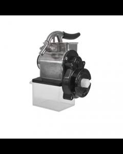 Reber grattugia n. 5 per motoriduttore 500 600 1200 watt. Corpo e maniglia in alluminio alimentare. Rullo in acciaio e cassetto in plastica alimentare.
