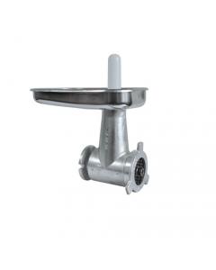 Reber tricarne n. 22 corto per motoriduttore 600 - 1200 kilowatt. Corpo in ghisa. Imbuto, trafila e coltello in acciaio inox. Pestello in plastica.
