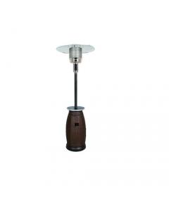 Roattan stufa a gas ad ombrello con base in polyrattan marrone
