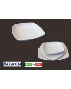 Saturnia piatto Tokio fondo cm 21 bianco set 6 pezzi