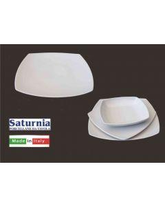 Saturnia piatto Tokio piano diametro cm 26 bianco set 6 pezzi