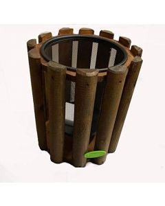 Cestino in legno per rifiuti, ideale per esterni