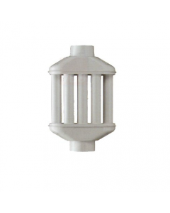 Smalbo diffusore di calore in acciaio smaltato bianco a 8 elementi per stufa a legna diametro cm 12