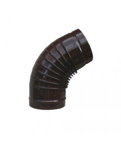 Smalbo gomito a 45 gradi in acciaio smaltato colore marrone per stufe a legna