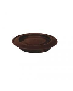 Smalbo rosone in acciaio smaltato colore bianco o marrone per stufe a legna