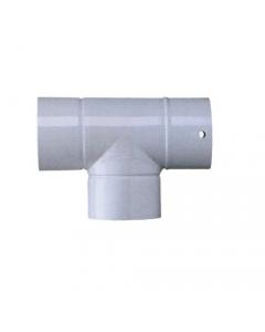 Smalbo tubo a T in acciaio smaltato colore bianco per stufe a legna