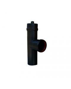 Smalbo tubo a T nero opaco in acciaio per stufa a pellet