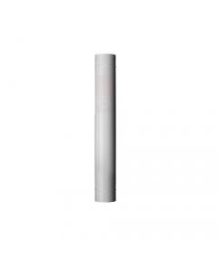 Smalbo tubo in acciaio smalttato colore bianco per stufe a legna