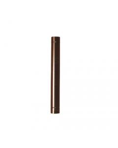 Smalbo tubo in acciaio smaltato colore marrone per stufe a legna