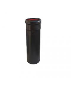 Smalbo tubo nero opaco per stufa a pellet in acciaio di spessore 1 mm con guarnizione - 2 pezzi
