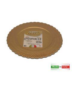 Sottotorta colore oro dorato tondo circolare diametro cm 24