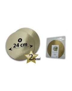 Sottotorta dorato colore oro. Sottorta disponibile in diametro cm 24, 28, 30, 32, 34.