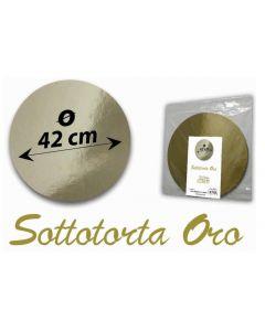 Sottotorta dorato colore oro per servite torte. Sottotorta disponibile nel diametro cm 38 e cm 42