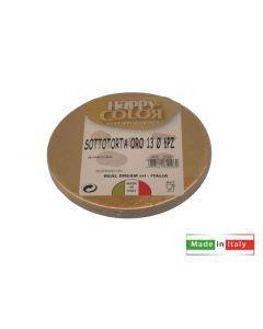 Sottotorta oro colore dorato diametro cm 13 confezione 6 pezzi
