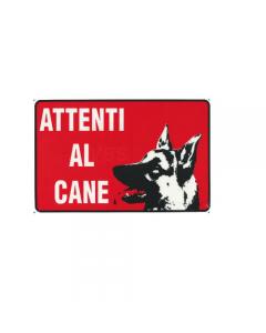 Stamplast cartello segnaletico attenti al cane in pvc formato mm 300 x 200