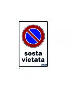 Stamplast cartello segnaletico divieto di sosta in pvc formato mm 300 x 200