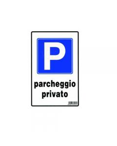 Stamplast cartello segnaletico parcheggio privato in pvc formato mm 300 x 200