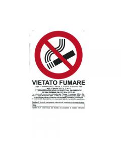 Stamplast cartello segnaletico vietato fumare formato mm 300 x 200 in pvc