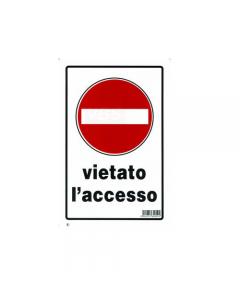 Stamplast cartello segnaletico vietato l'accesso formato mm 300 x 200 in pvc