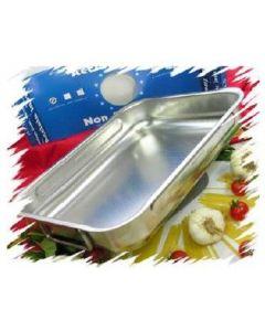 Steel Pan teglia rettangolare in acciaio inox 18/10 antigraffio cm 25 cm 30 cm cm 35 cm 40