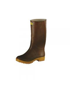 Stivali in gomma al ginocchio colore marrone