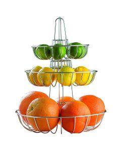 Cesto da tavola per frutta a tre livelli