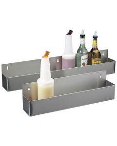 Tasca in metallo per contenere botttiglie per barman