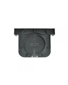 Tappo nero per canaletta in polipropilene copolimero caricato con anti raggi U.V. 10 pezzi