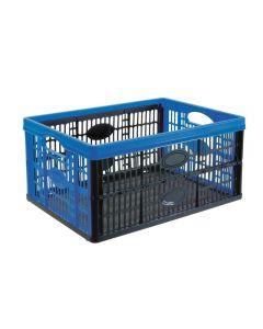 Tontarelli cassetta cesta contenitore salvaspazio richiudibile con manici di dimensioni cm 34,5 X 47 X 23. Dimensioni da chiusa: 34,5 X 47 X 4 cm. Capacità 32 litri. Ideale per contenere oggetti e frutta. Codice EAN 8009404310151.
