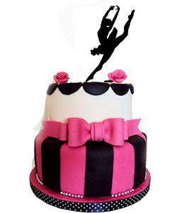 Topper per torta e dolci a forma di ballerina