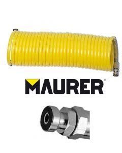 tubo aria compressa per compressore lunghezza 7,5 metri a spirale innesti a baionetta