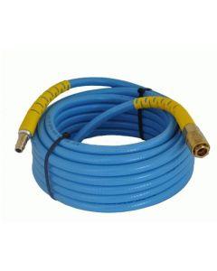 tubo per aria compressa lunghezza 20 metri 8 x 13 retinato in pvc blu innesti universali compressore