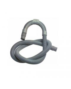 Tubo scarico per lavatrice in plastica spiralato con cavallotto