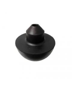 Valvola mezza sfera ad innesto rapido per batteria Catis in gomma morbida nera