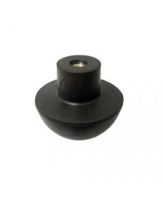 Valvola mezza sfera con inserto in ottone per batteria Catis in gomma morbida nera. 25 pezzi.