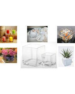 vaso in vetro per acquario e da tavola per cerimonie