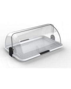vetrina vetrinetta da bar porta pane dolci cornetti in plastica bianca di Polibox